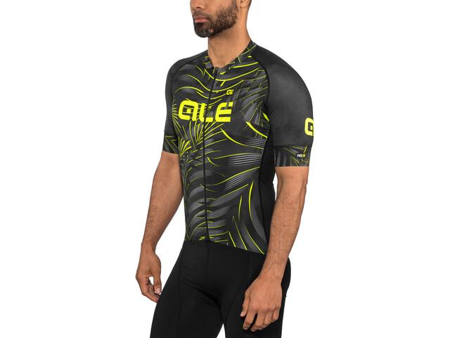 Alé Cycling Graphics PRR Sunset SS Jersey Men black-yellow flou